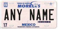 Morelos Mexico Any Name Number Novelty Auto Car License Plate C02