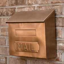 """Signature Hardware Horizontal """"MAIL"""" Wall Mount Copper Mailbox in Antique Copper"""