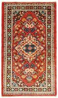 "Hand Knotted Red Blue Tribal Wool Nomadic Darjazin Oriental Rug 2'6"" x 4'3"""