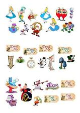 31 Alice In Wonderland STAND UP Cupcake Fairy Cake Toppers Edible Decorations