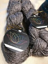 Lotus Yarns Cathay 4 Silk/Yak DK Weight - 2 Skeins Grey Color 11, Lot 1602