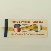 Union Pacific Railroad Passenger Used Coupon Kansas Ticket Booklet 1958
