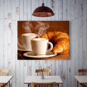 Morning Coffee Art Paintings Prints Canvas Poster Home Ornaments Gift