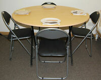 Folding Dinning Table & Chairs Canteen Cafe Restaurant Bistro Table & Chairs set