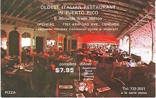Porto Puerto Rico San Juan - Condado Italy Pizza chrome unused ads postcard