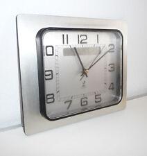 Horloge Pendule Vintage   inox   JAZ     An 70's     Mai20