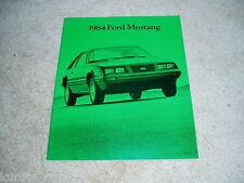1984 Ford Mustang GT SVO Turbo LX sales brochure dealer catalog literature