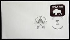U608 - PAPAL VISIT STATION, POPE JOHN PAUL II  UNADDRESSED COVER 1987  (ESP#760)