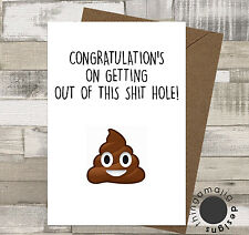 SORRY YOUR LEAVING CARDS GOOD LUCK Comedy Funny Humour Rude Banter Joke / B