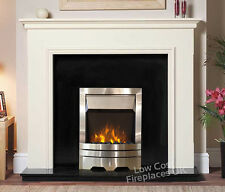ELECTRIC WHITE BLACK SILVER WALL FREE STANDING SURROUND FIRES FIREPLACES SUITE