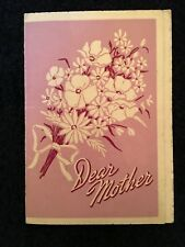 VINTAGE DEAR MOTHER CARD 1930 s