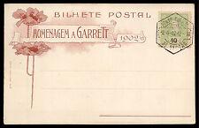 HOMENAGEM A GARRET Homage to Writer. Old postcard FAVOUR CANCEL 1902 PORTUGAL