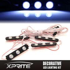Xprite WHITE 4PC Strip Pod Panel 4X4 Off Road Jeep Under Body Rock Lights 12 LED