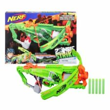 New Nerf Zombie Strike Outbreaker Bow & Soft Darts Blaster Gun Official