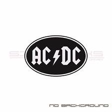 AC DC Decal Sticker logo decal racing round circle Pair