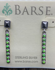 Lime Turquoise- Sterling Silver- Nwt Barse Dot Matrix Linear Earrings-