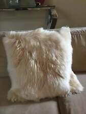 Luxurious Fur Alpaca Pillow Champagne, Alpaca cushion cover, Square All sizes
