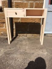 H80 W84 D20cm BESPOKE UNTREATED CONSOLE HALL TELEPHONE TABLE DRAWER CHUNKY