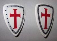 27032 Escudo gota agua cruzado 2u playmobil,medieval,shield,crusader,knight