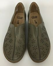 Clarks Women's Everlay Dairyn Loafer Sage Taupe Shoes Size 8 M