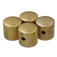 4pcs Gold Metal Electric Guitar Knobs Dome Knob For Fender Tele Telecaster Parts