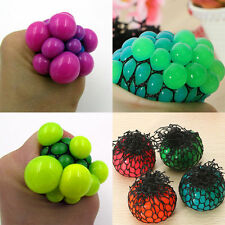 Novelty Anti Stress Reliever Grape Mesh Ball Mood Squeeze Fidget Toy Adults Kid