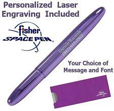 Personalized Fisher Space Pen #400PP - Purple Passion Bullet Pen