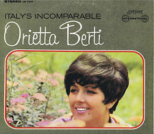 ITALY'S INCOMPARABLE Orietta Berti London Vinyl LP Pop Music Album VG+ Stereo