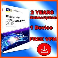 Bitdefender Total Security 2018 - 2 Years Activation - 1 Device