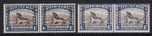 SOUTH AFRICA SGO47a & SgO47 1953 1/= BLACKISH-BROWN & ULTRAMARINE - MNH