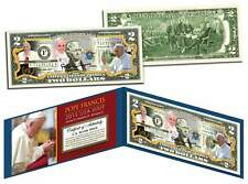 POPE FRANCIS * 2015 USA Visit * Colorized $2 Bill US Genuine Legal Tender w/COA