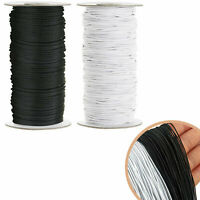 ROUND FLAT 2MM ELASTIC BUNGEE ROPE  STRING STRETCHABLE CORD DRESS MAKING CRAFT