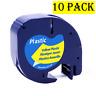 Dymo10 PK 91201 91200 12267 12mm Label Tape Compatible LetraTag Refill LT-100H