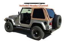 1997-2006 Jeep Wrangler Bowless Soft Top Kit with Tint & Header Channel in Spice