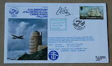 Islas del Canal 40TH aniversario de Liberartion 1985 Cubierta firmado LT Cdr R un algodón