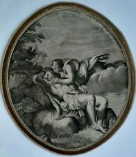 Déesse de la lune Séléné embrassant Endymion par G Frezza d'après le Dominiquin
