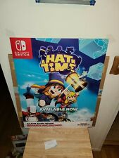 """A Hat In Time Nintendo Switch Promotional Video Game Display Poster 22""""×28"""" Rare"""