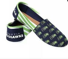 New NFL Seattle Seahawks Forever Collectibles Women's Slip On Flats Shoes S 5/6