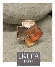 Luxus Ring 3D Damenringe Fingerringe IKITA Paris Elastisch Emaille Gla