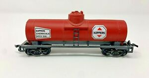 LIFE LIKE HO SCALE KOPPERS CHEMICAL SINGLE DOME TANK CAR KPCX 508 VG CONDITION