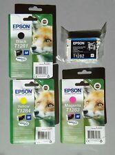 Genuine Epson Fox T1281-T1284 Multipack Set of Ink Cartridges