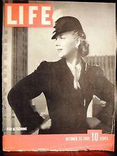 LIFE October 23,1939 War & Fashion / Poland / Balkans / Britain's Navy / Detroit