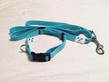 Nylon Dog Collar and Leash. Blue. Small. Puppy. Boy. Male. Free Ship. USA Stock.