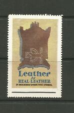 Leather is Real Leather advertising/poster stamp/label