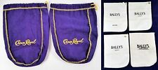 2 Crown Royal Purple Bags and 4 Ballys Casino Shoe Mitts Vintage Park Place