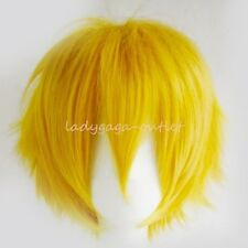Cool Black White Blonde Red Wig Short Straight Women Men Cosplay Party Full Wigs