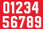 Vinyl 1980's 90's Football Shirt Soccer Numbers Heat Print Football Vintage 4