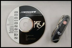 SWISS RIDER by WENGER SWISS ARMY KNIFE MULTI TOOLS + DVD NEW PACKAGE DEAD STOCK