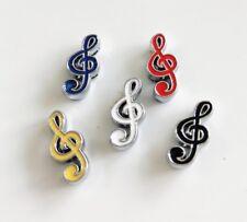 10PCs 8MM Enamel Colorful Music Note Slide Charms Fit 8mm Collar Belts Bracelets
