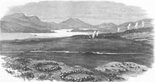 SUTHERLAND. The waste lands of Shiness. Scotland, antique print, 1874